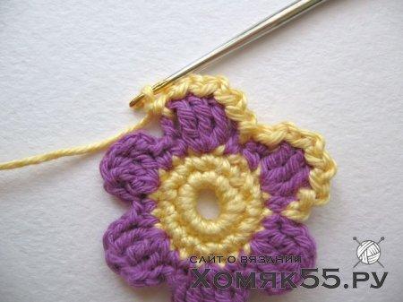 Маленький цветочек, связанный крючком. Мастер-класс