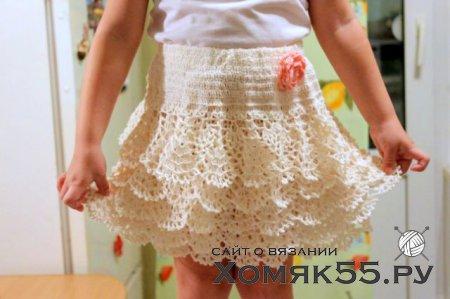 Ажурная юбочка для девочки 3-4 лет