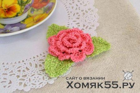 МК Роза (вязание крючком)
