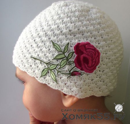 Мастер-класс по вязанию летней шапочки для девочки «Розочка»