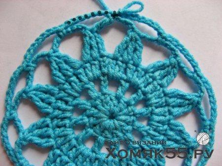 Вязаная шляпа «Голубая лагуна»