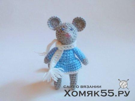 Мышка снегурочка крючком