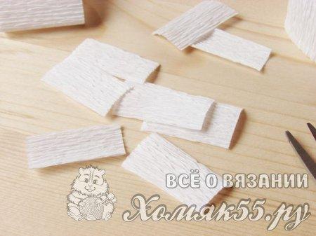 Лотос из гофрированной бумаги
