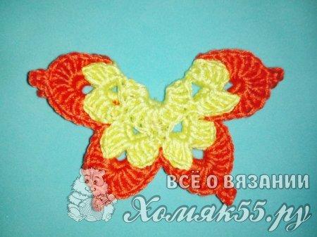 Серьги Бабочки крючком