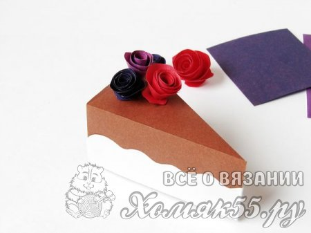 Коробочка-тортик из бумаги
