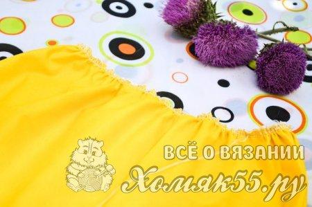 Детское комбинированное платье крючком