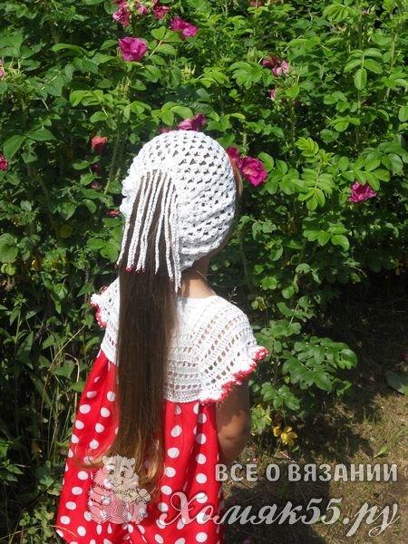 Летний комплект для девочки. Вязание крючком + шитьё